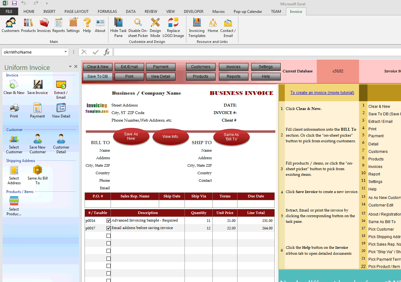 Advanced Sample - Email Is Required Before Saving Invoice (UIS Edition)