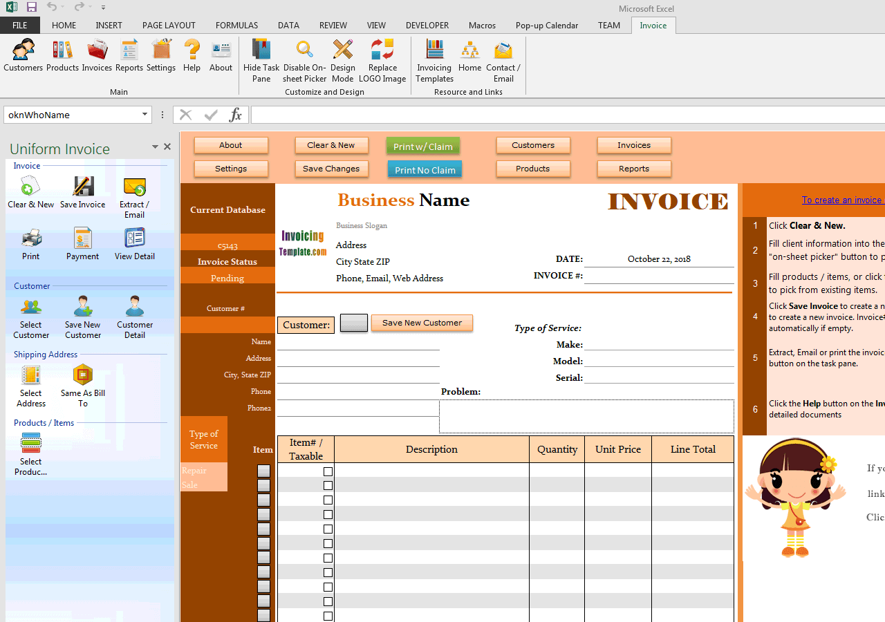 Advanced Sample - Print One Invoice in Two Different Formats (IMFE Edition)