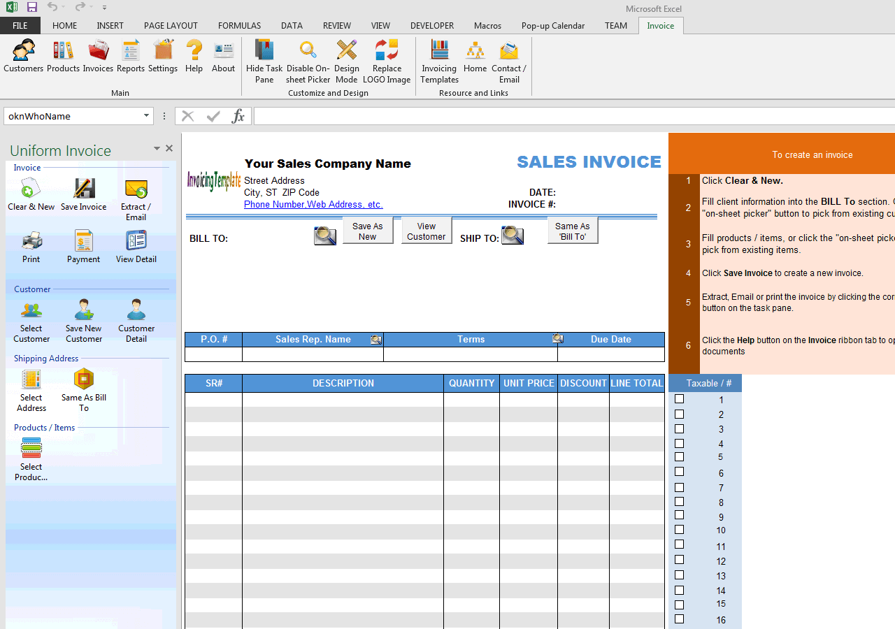 Advance Payment Invoicing Format - Create billing invoice