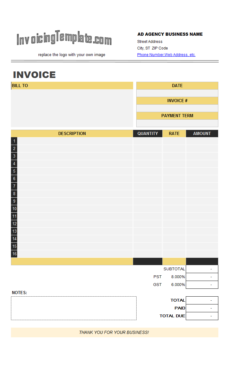Advertising agency invoice template advertising agency invoice template c4064 flashek