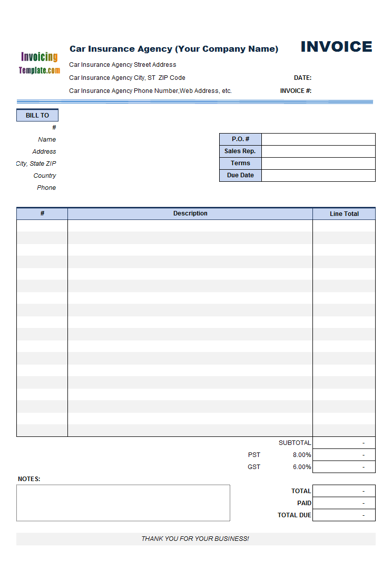 agency billing template