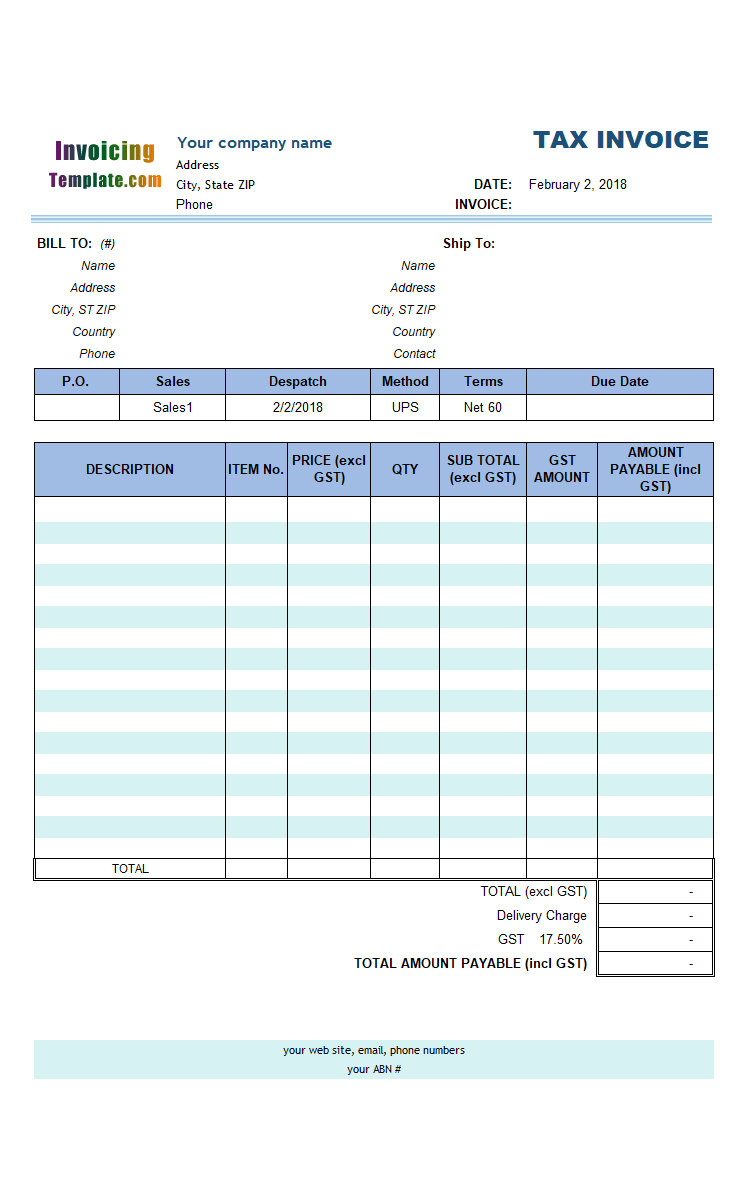20 Microsoft Office Invoice Templates Free Download