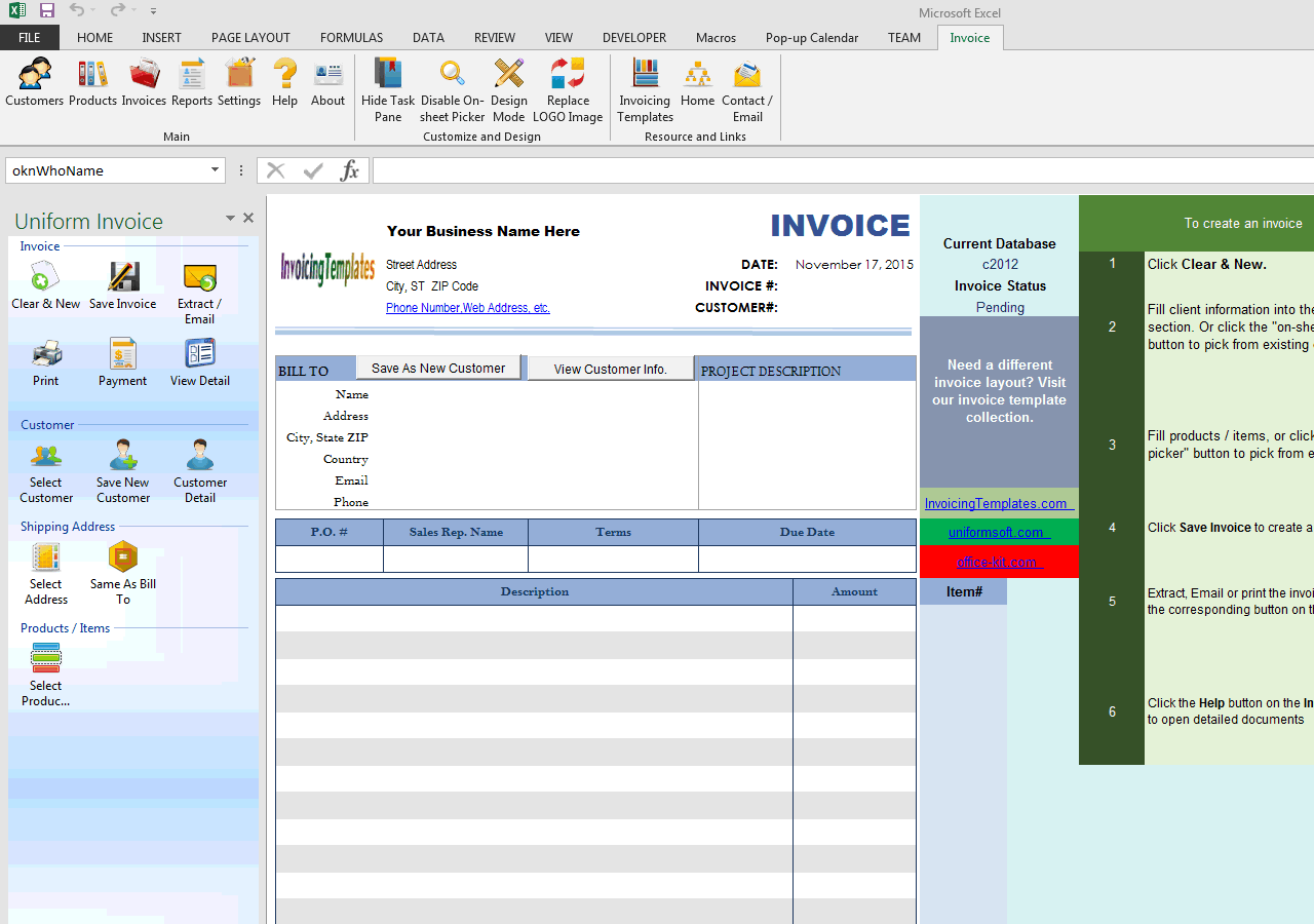 Basic Blank Service Format (No-tax) (UIS Edition)