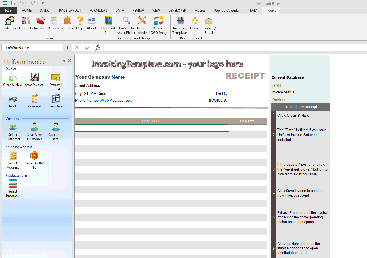 blank cash receipt free invoice templates for excel pdf