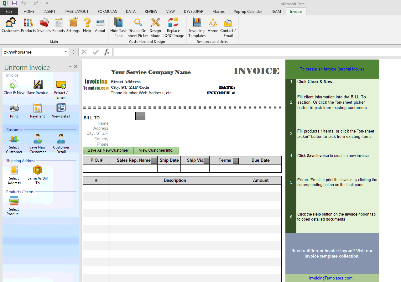 blank service invoicing template blank service invoicing template uis edition