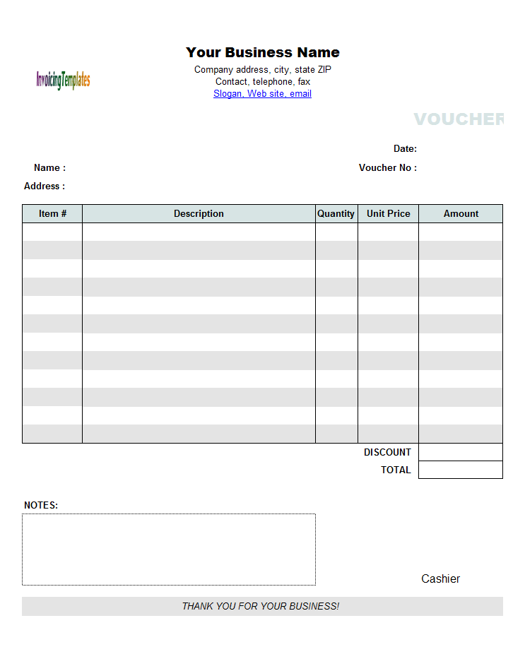 Cash Payment Voucher Template – Check Voucher Template