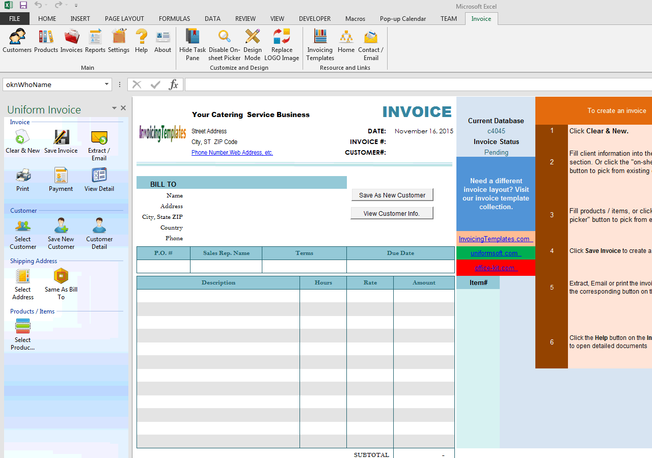Catering Invoice Template (IMFE Edition)