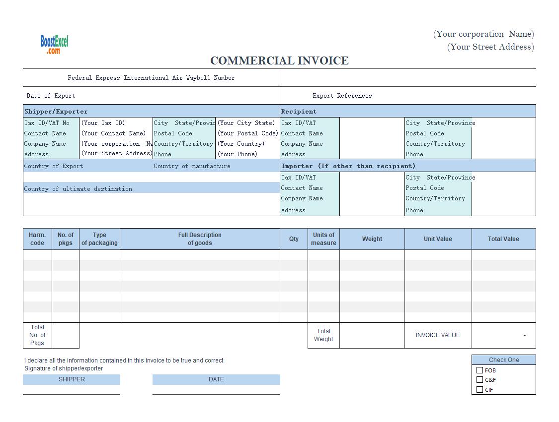 proforma invoice template xls  Proforma Invoice Format in Excel