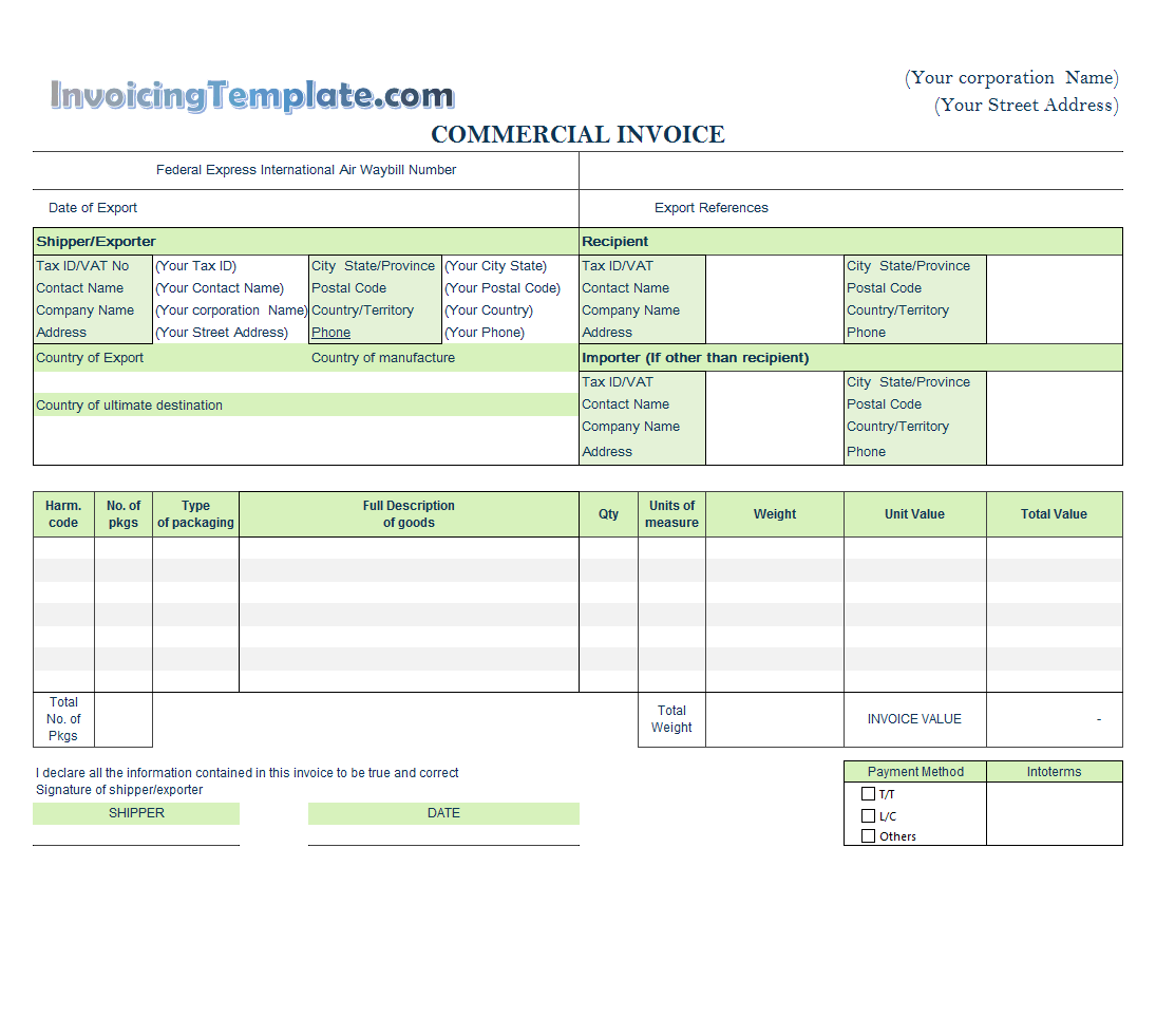 Word Rent Invoice Template