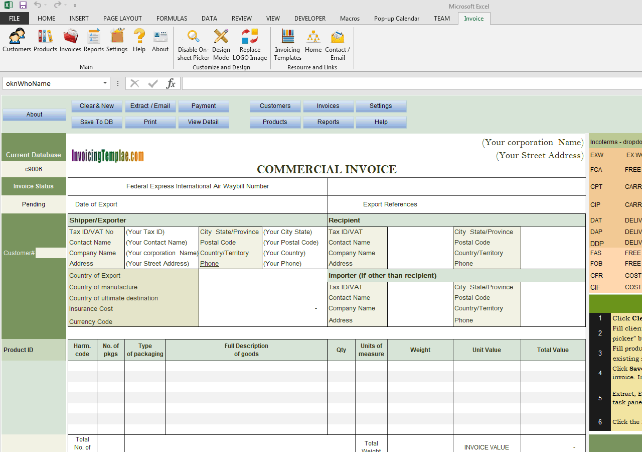 Commercial Template Sample - Adding Insurance Cost Field (UIS Edition)