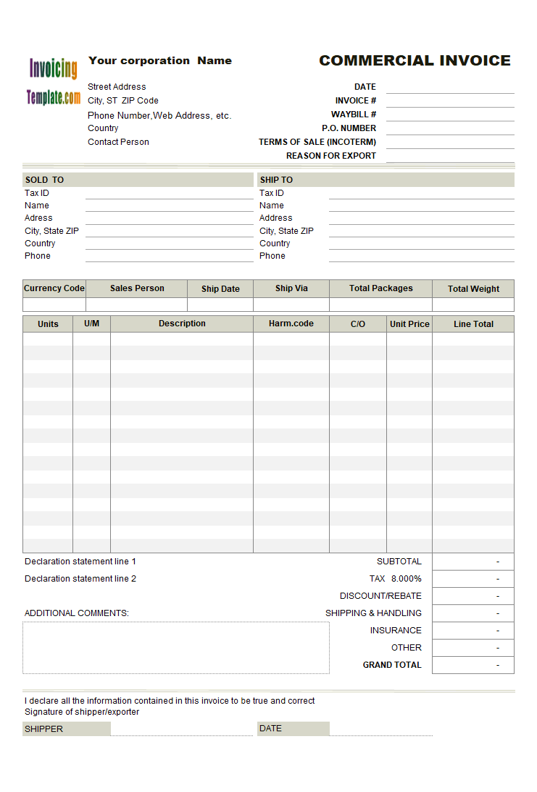 21 Proforma Invoice Templates