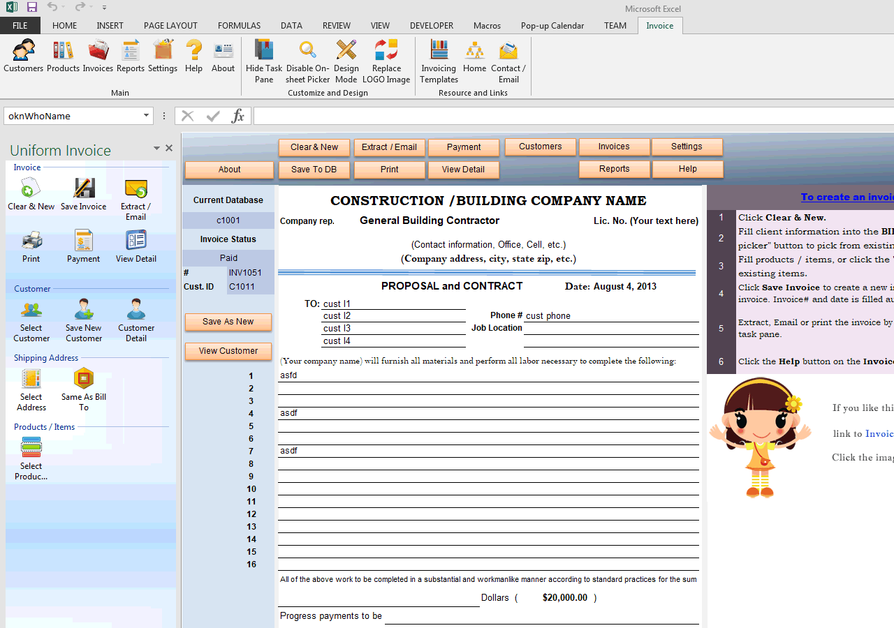 Construction Proposal Template (UIS Edition)  Construction Proposal Form