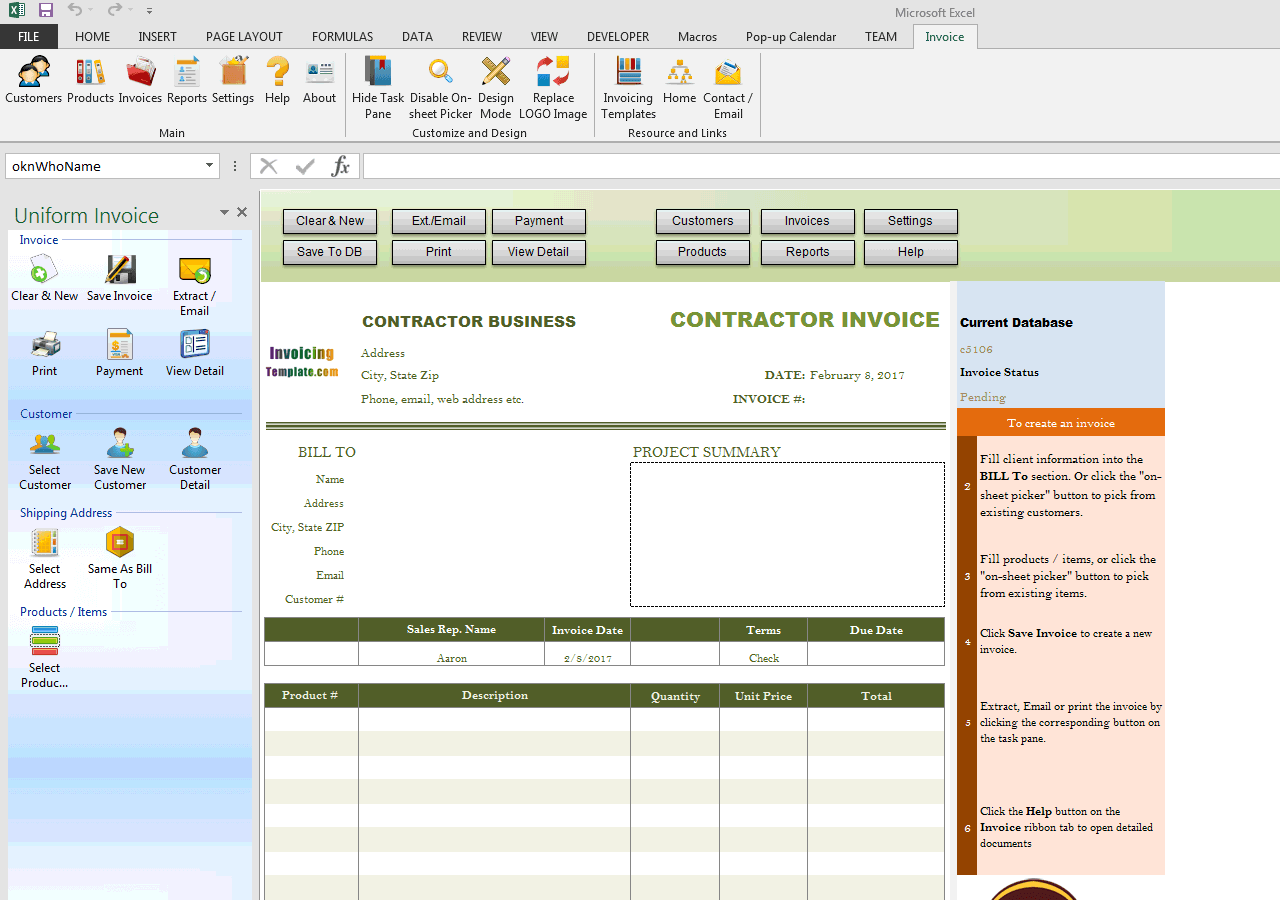 Contractor Invoices with Remittanceslip – Free Remittance Advice Template