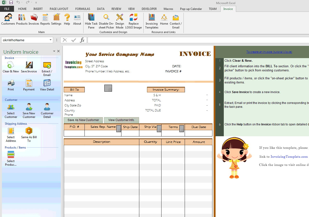 Customer Invoice Template (UIS Edition)