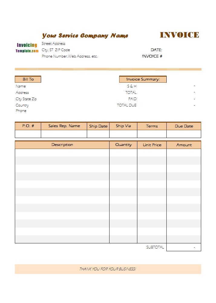 Customer Billing Form