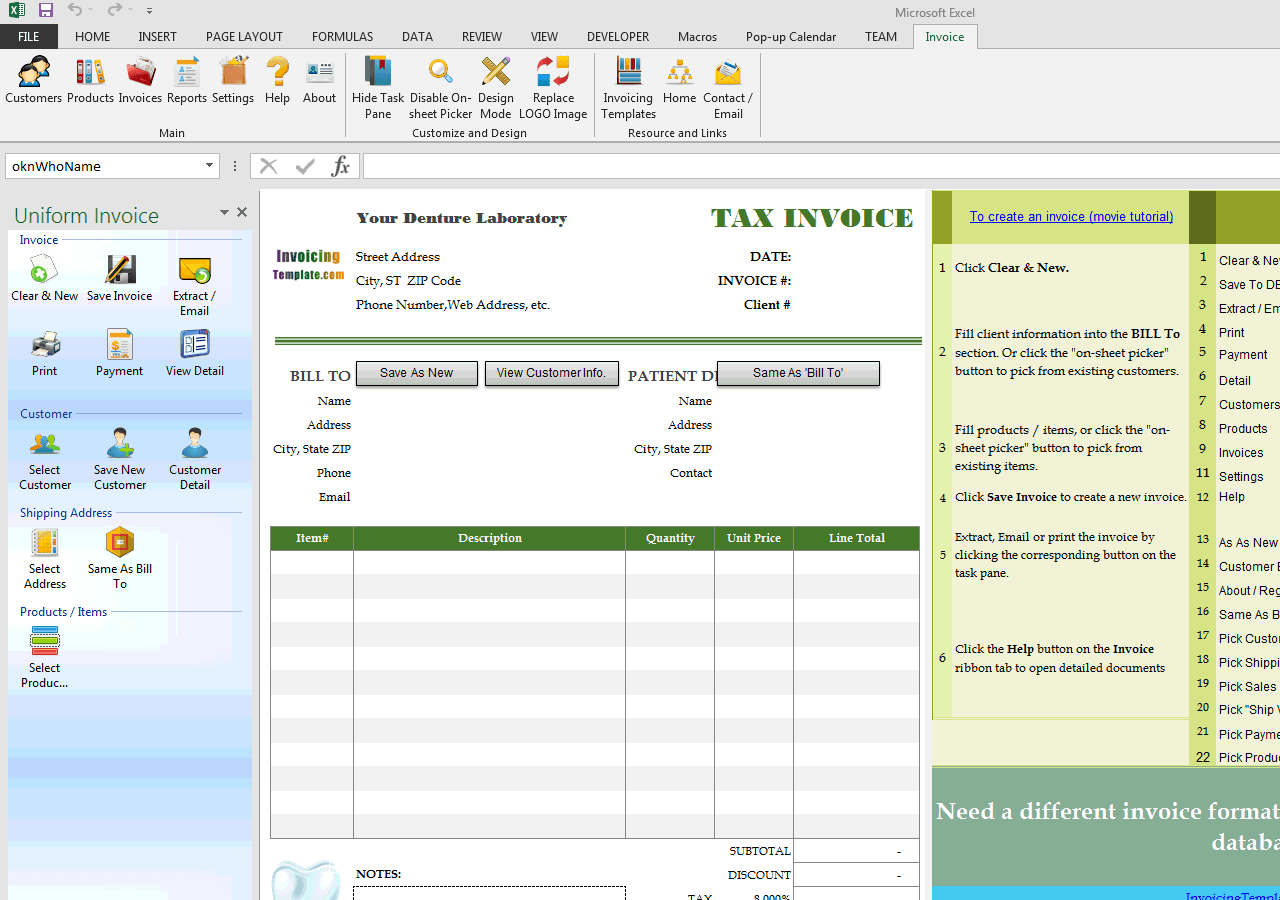 Download Dental Invoice Sample Rabitah Net
