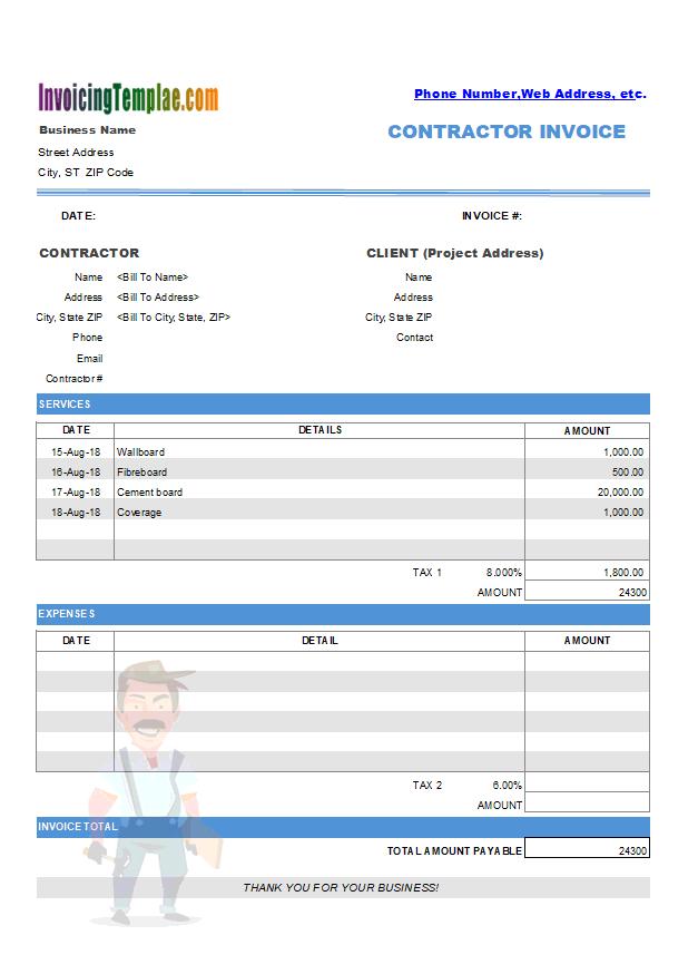 Openoffice Billing Invoice Template
