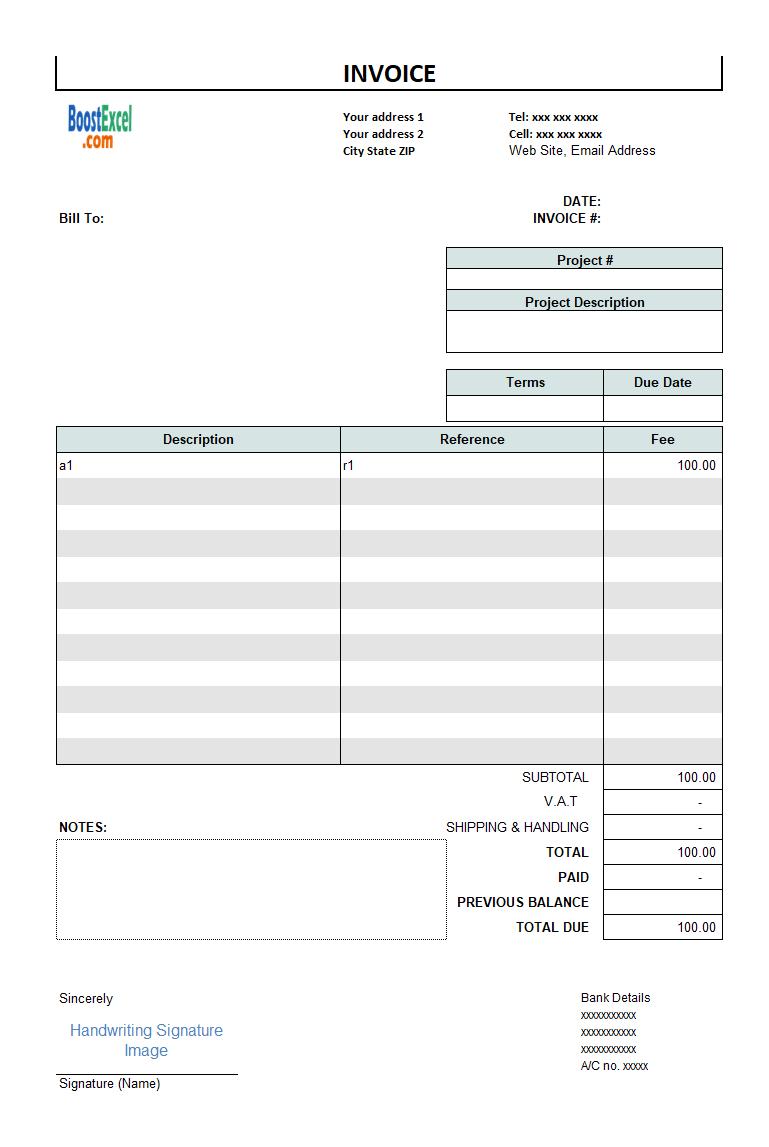 Invoice Design Software Freeware