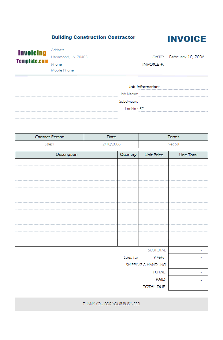 excel monthly bill template download