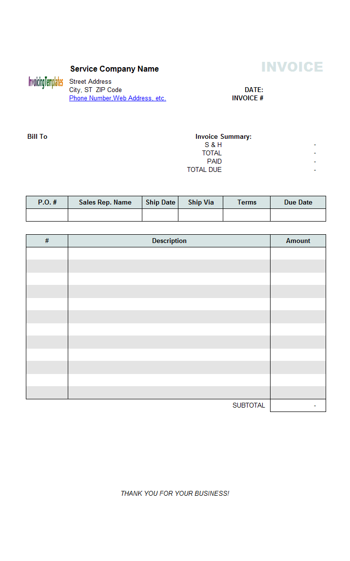 office invoice template free