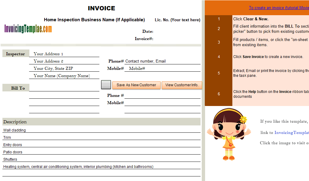 caregiver billing form