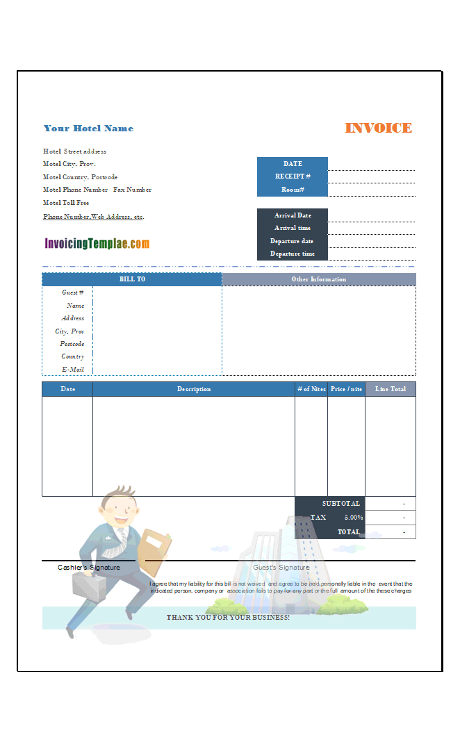 Construction Invoice Template