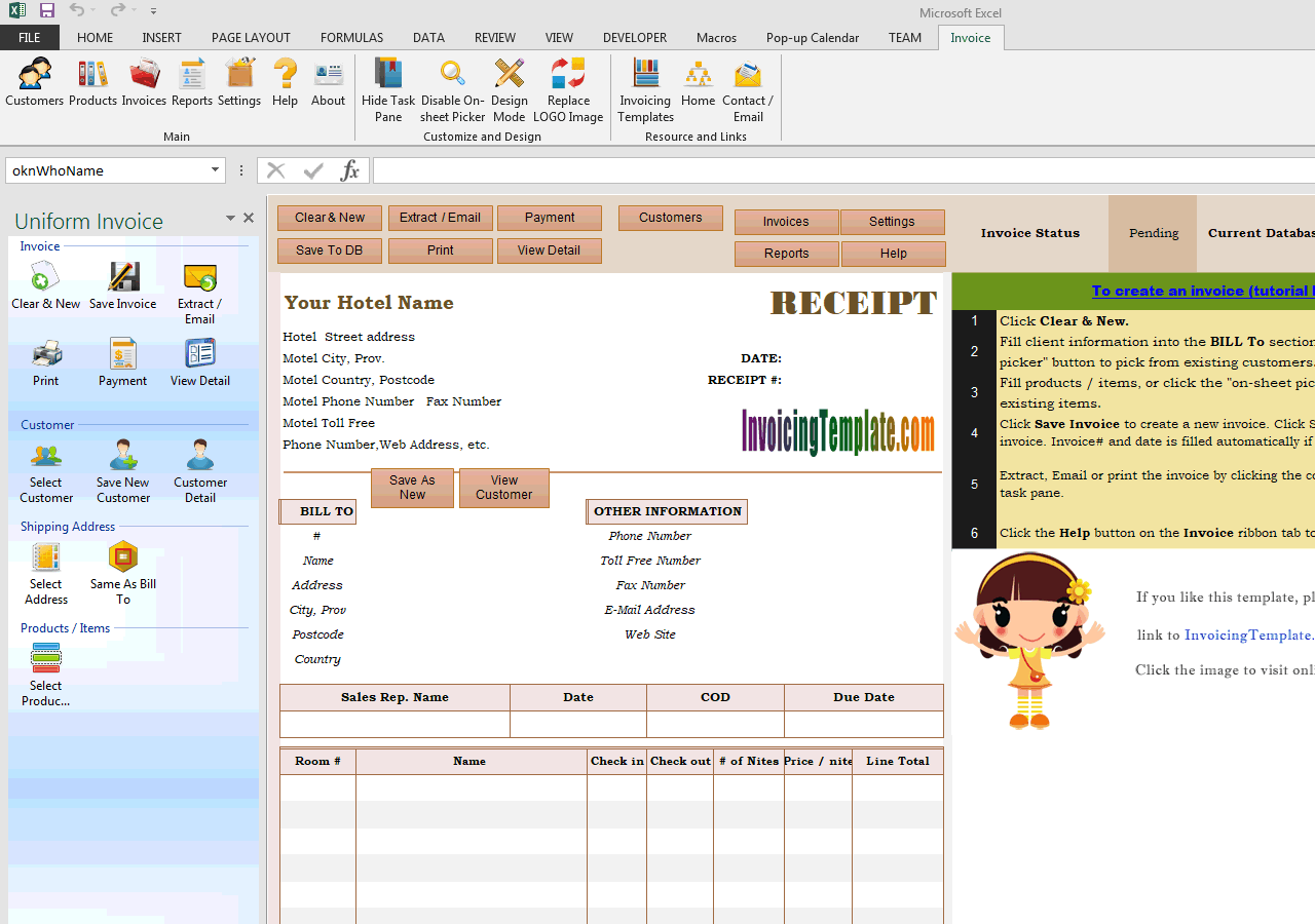 Hotel Receipt Template (UIS Edition)  Check Receipt Template