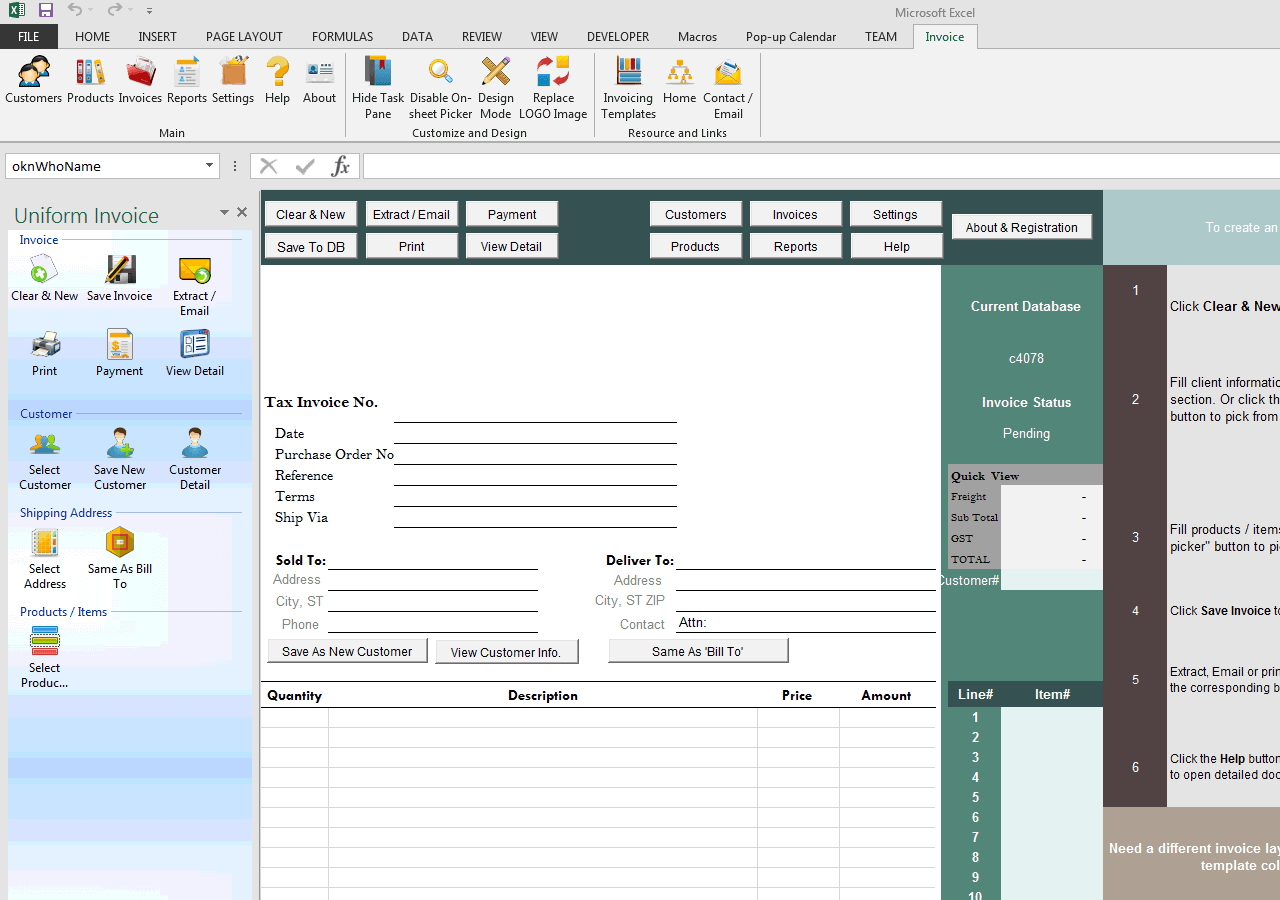 Invoice and Packing List on Same Form – Packing Label Template