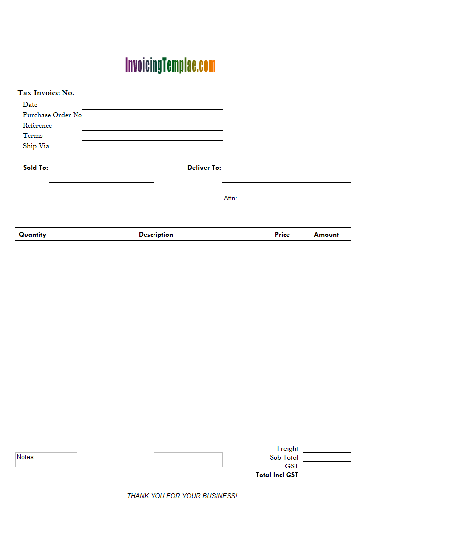 Sales Invoice Template - Easy invoice template