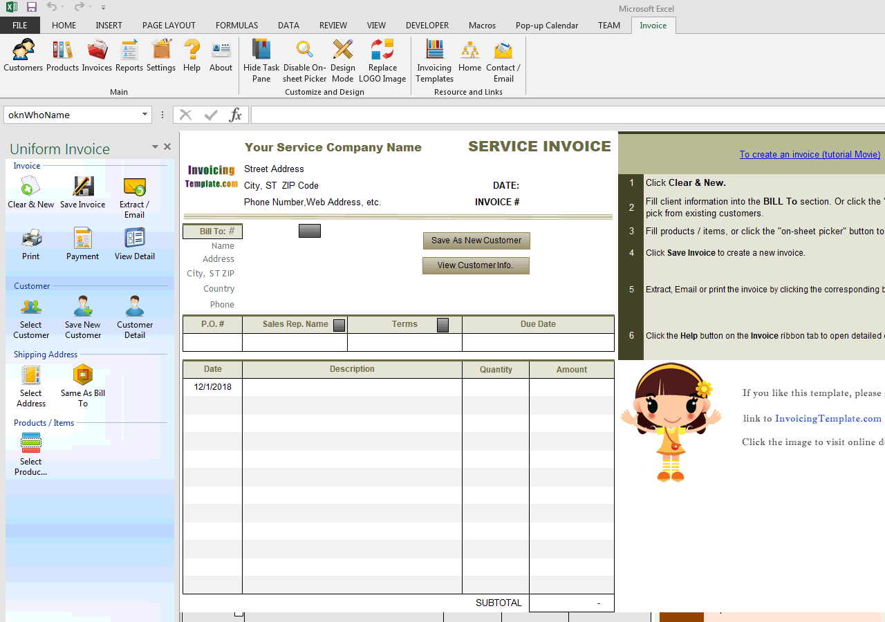 Invoice with Date Column (IMFE Edition)