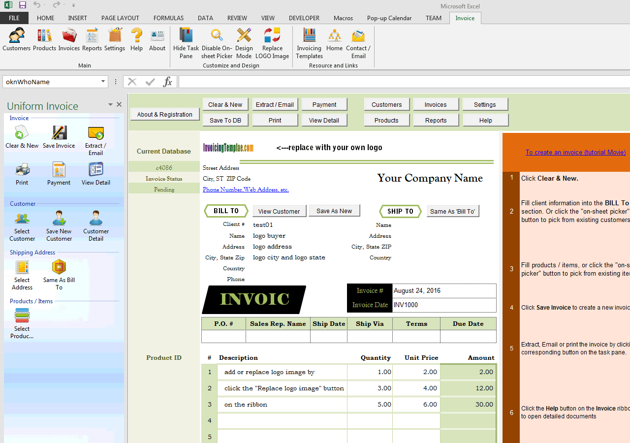 Invoicing Template with Logo (IMFE Edition)