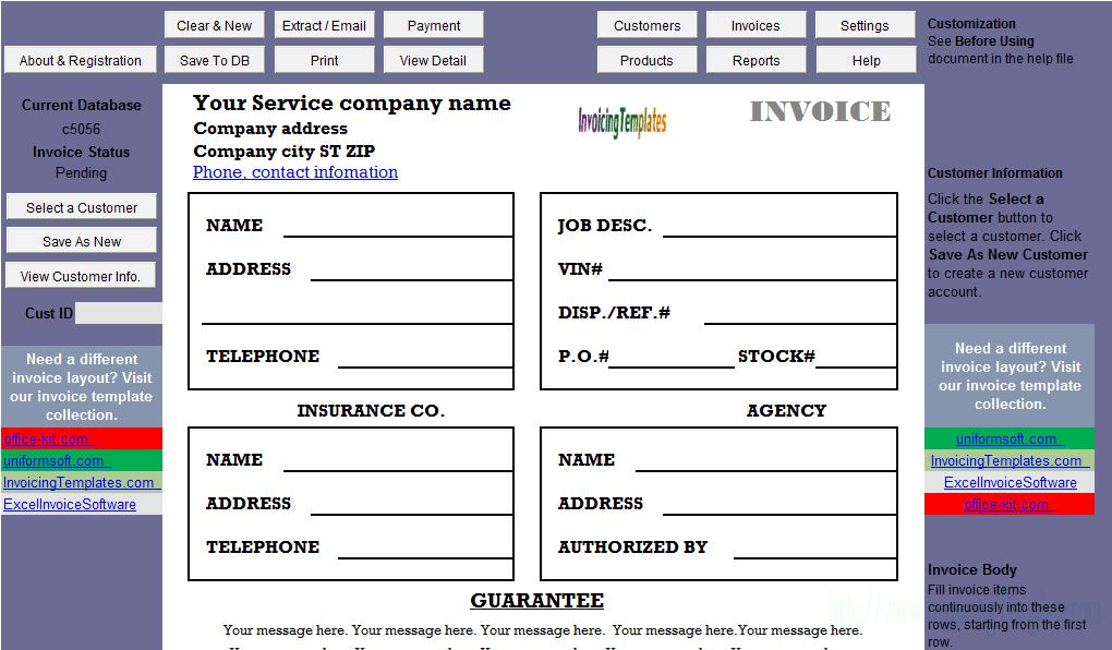 Job Invoice Sample (2 Taxes)
