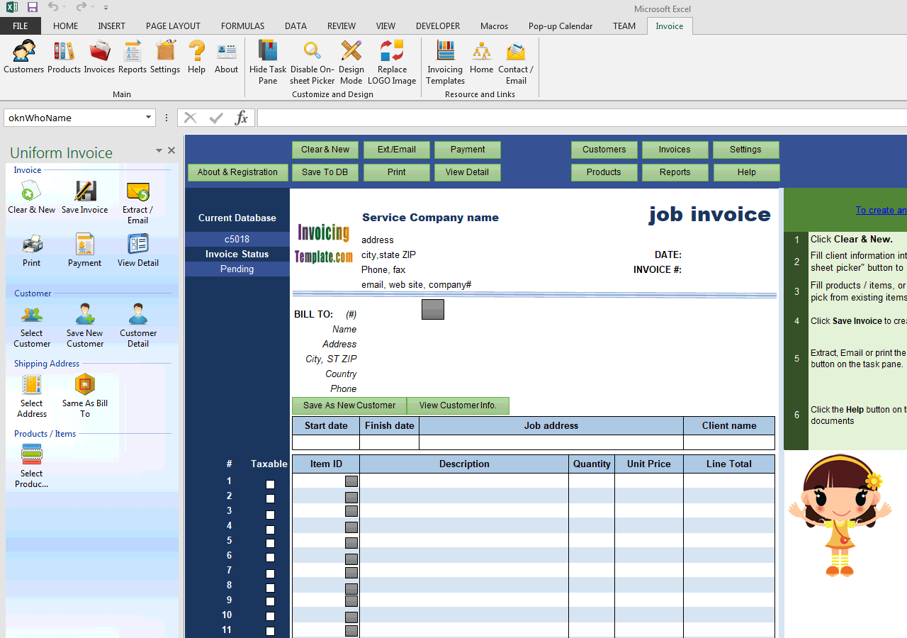 Job Invoicing Template (UIS Edition)