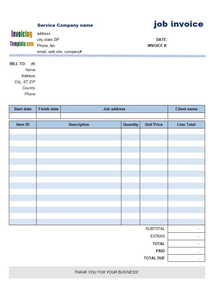 Invoice Template Publisher - Invoice sample template