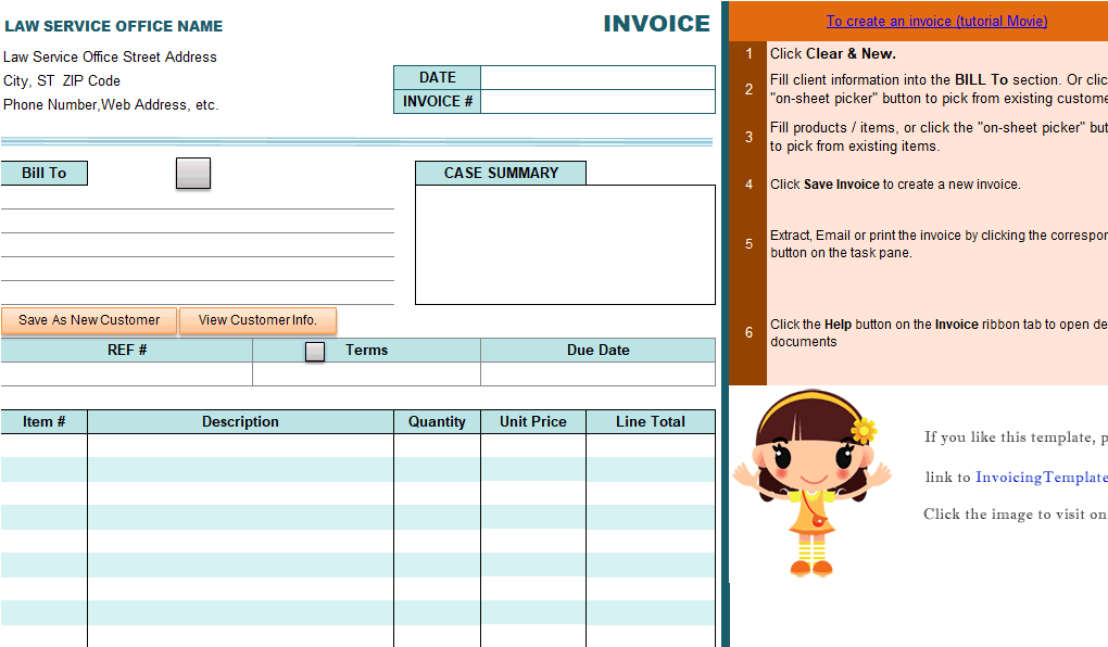 Advocate Invoice Sample