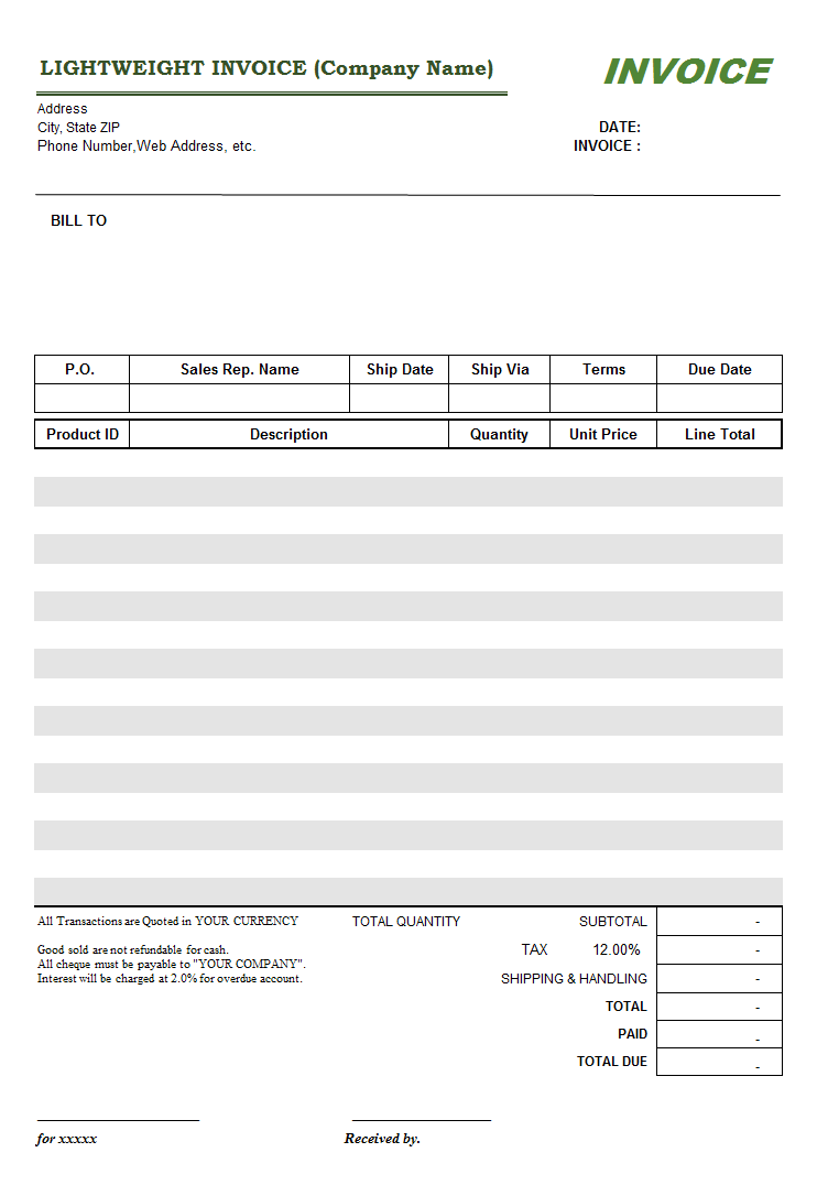 All Of Our Invoice Templates Are Editable - Fillable invoice template free for service business