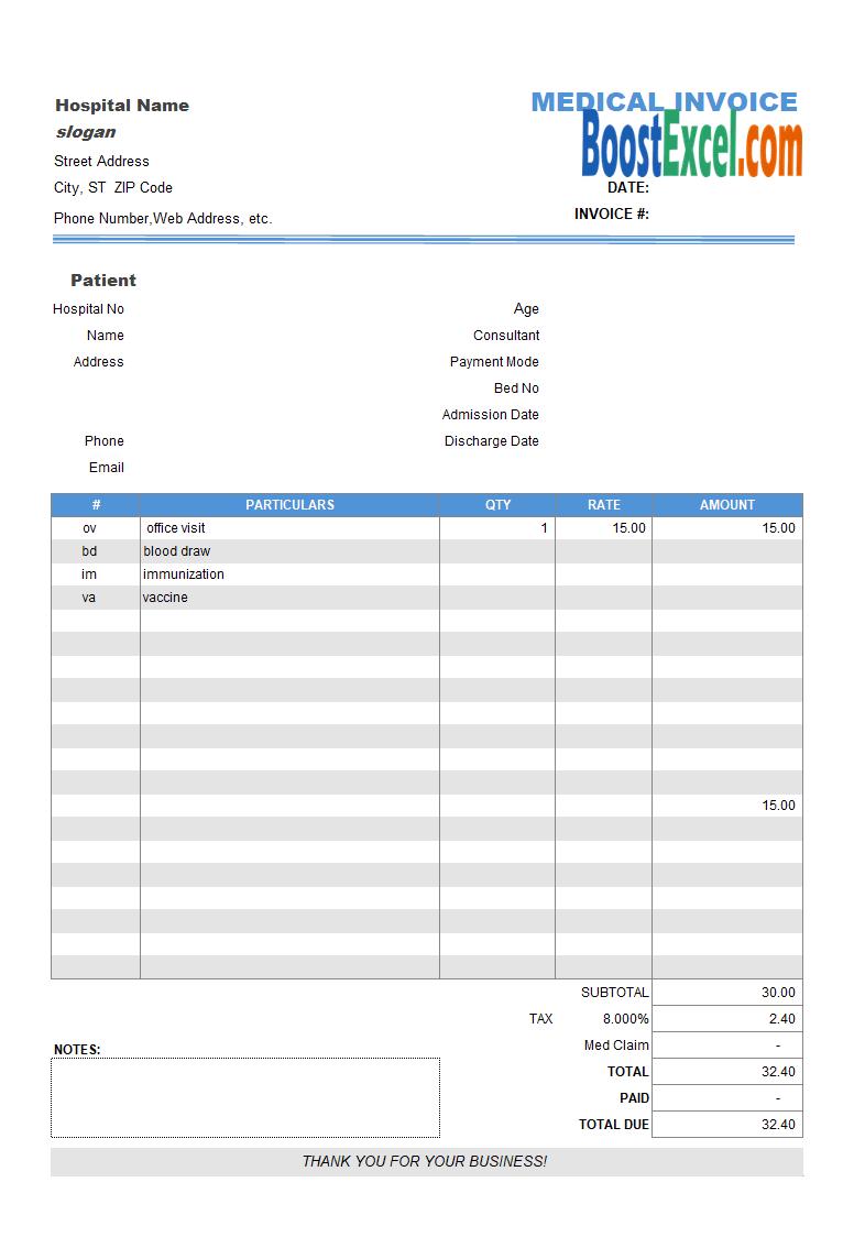 Mac Invoice Template