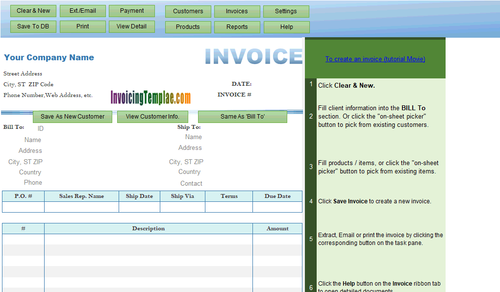 Thumbnail for Mountain Laurel Invoice Template