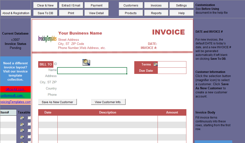 Notary Billing Template - IMFE edition