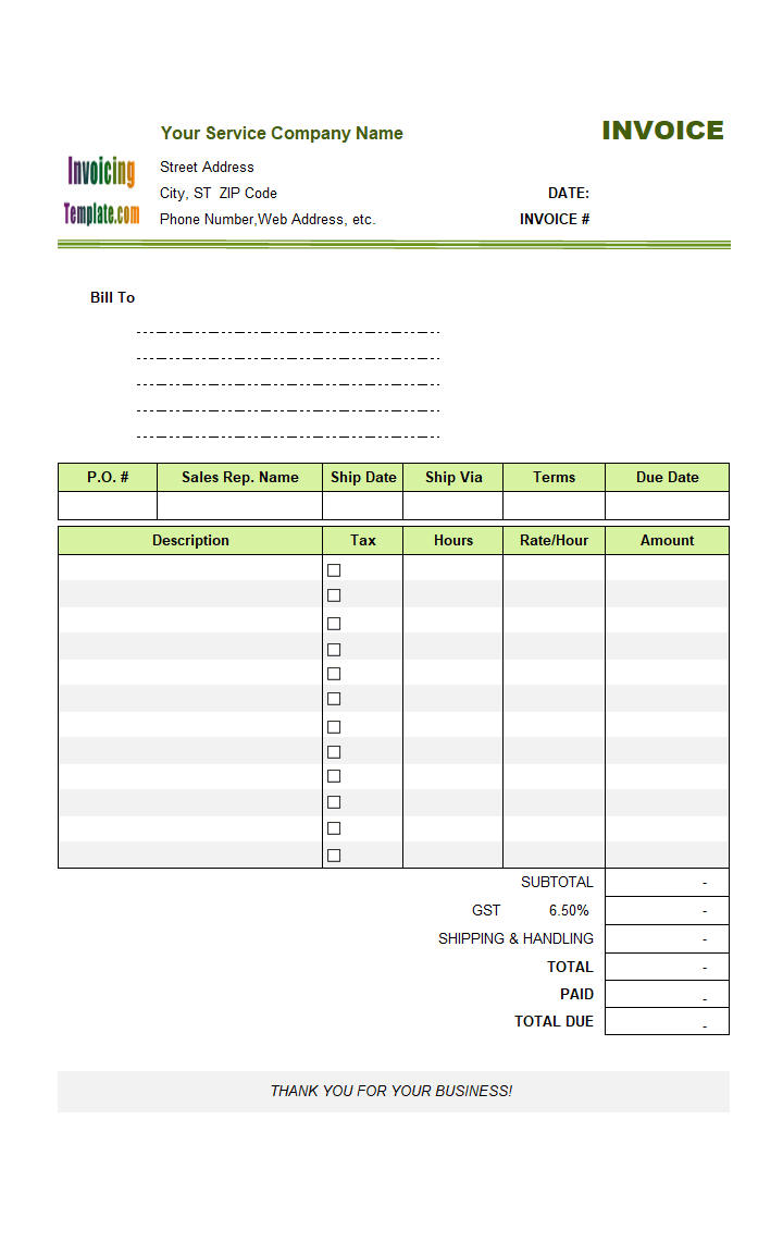 One Tax Column, No Shipping Address - freeware edition