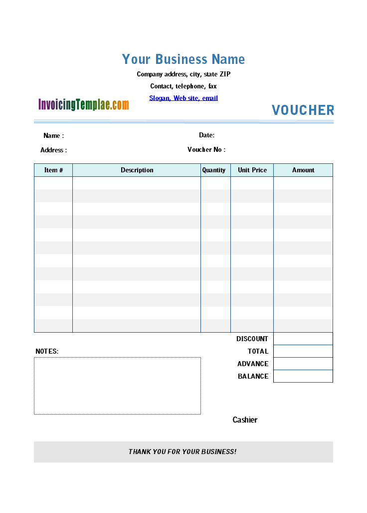 Thumbnail for Excel Payment Voucher Template