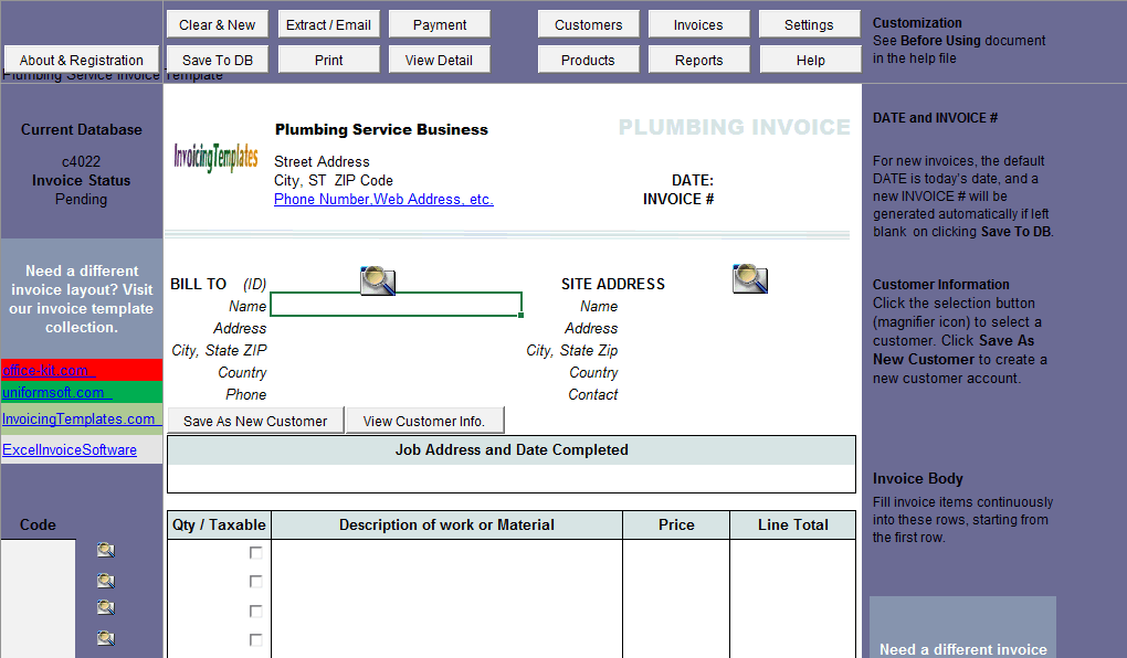 plumbing service invoicing sample sales tax uis edition