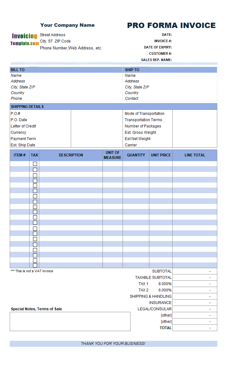 Excel Invoice Template With Vba