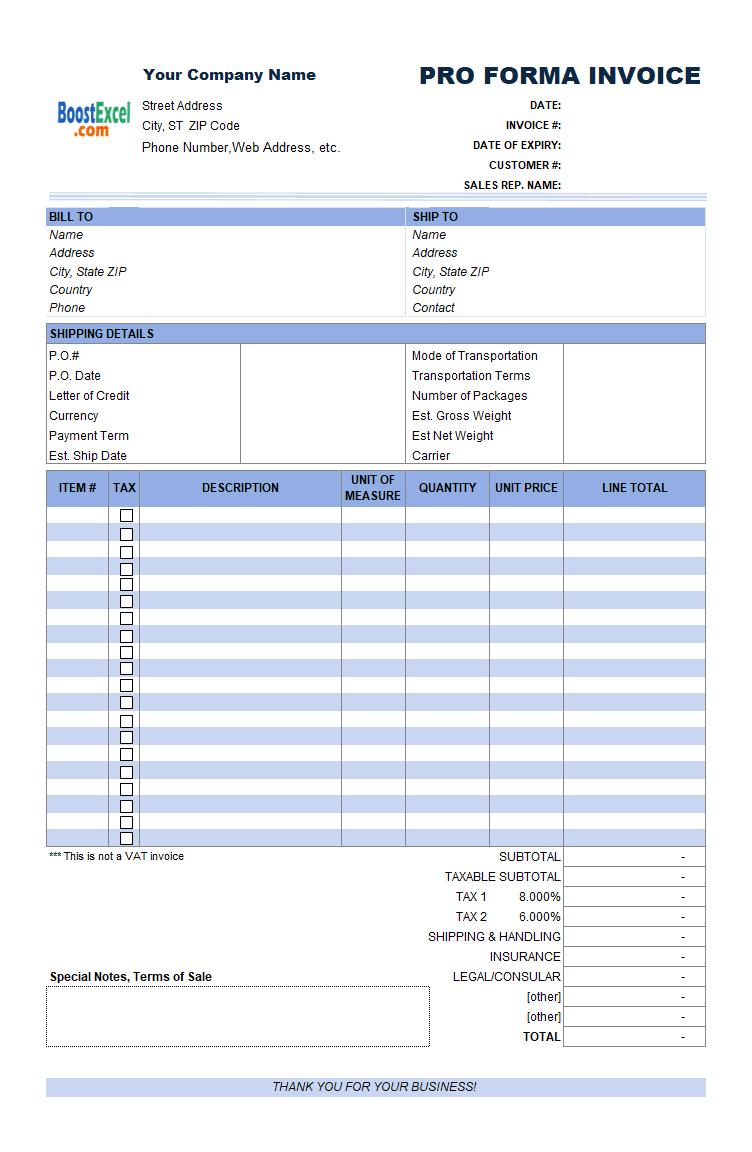pro forma invoice sample sample of proforma invoice proforma invoice