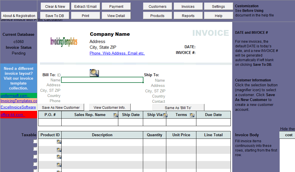 Sales Invoice With Profit Calculation