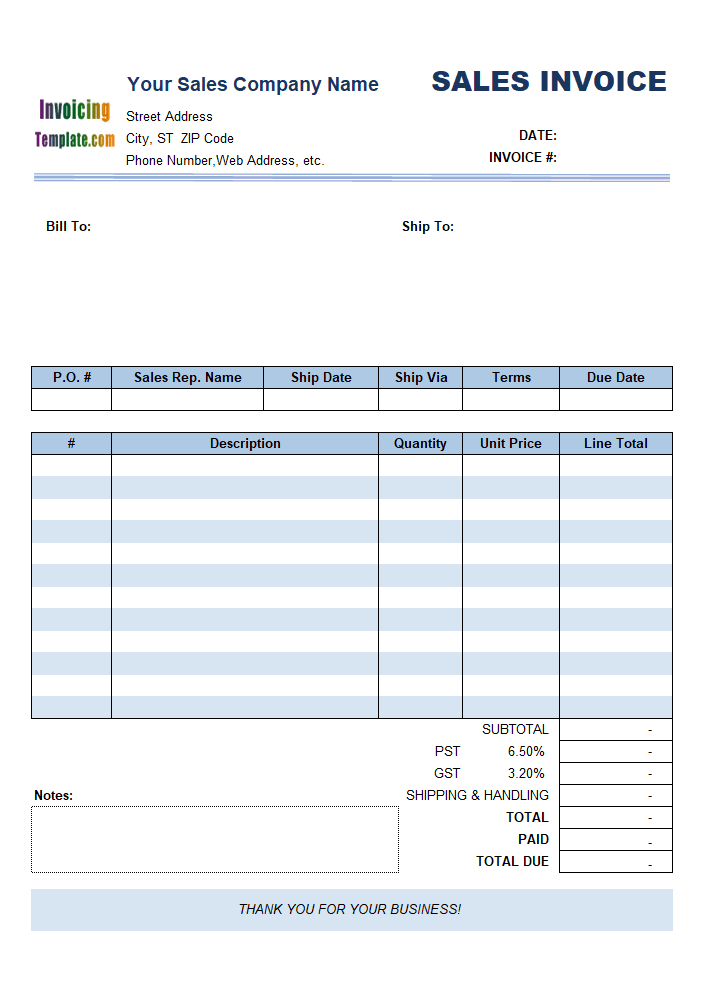 Sample Sales Invoice Template: Using Line Number Instead of Item#