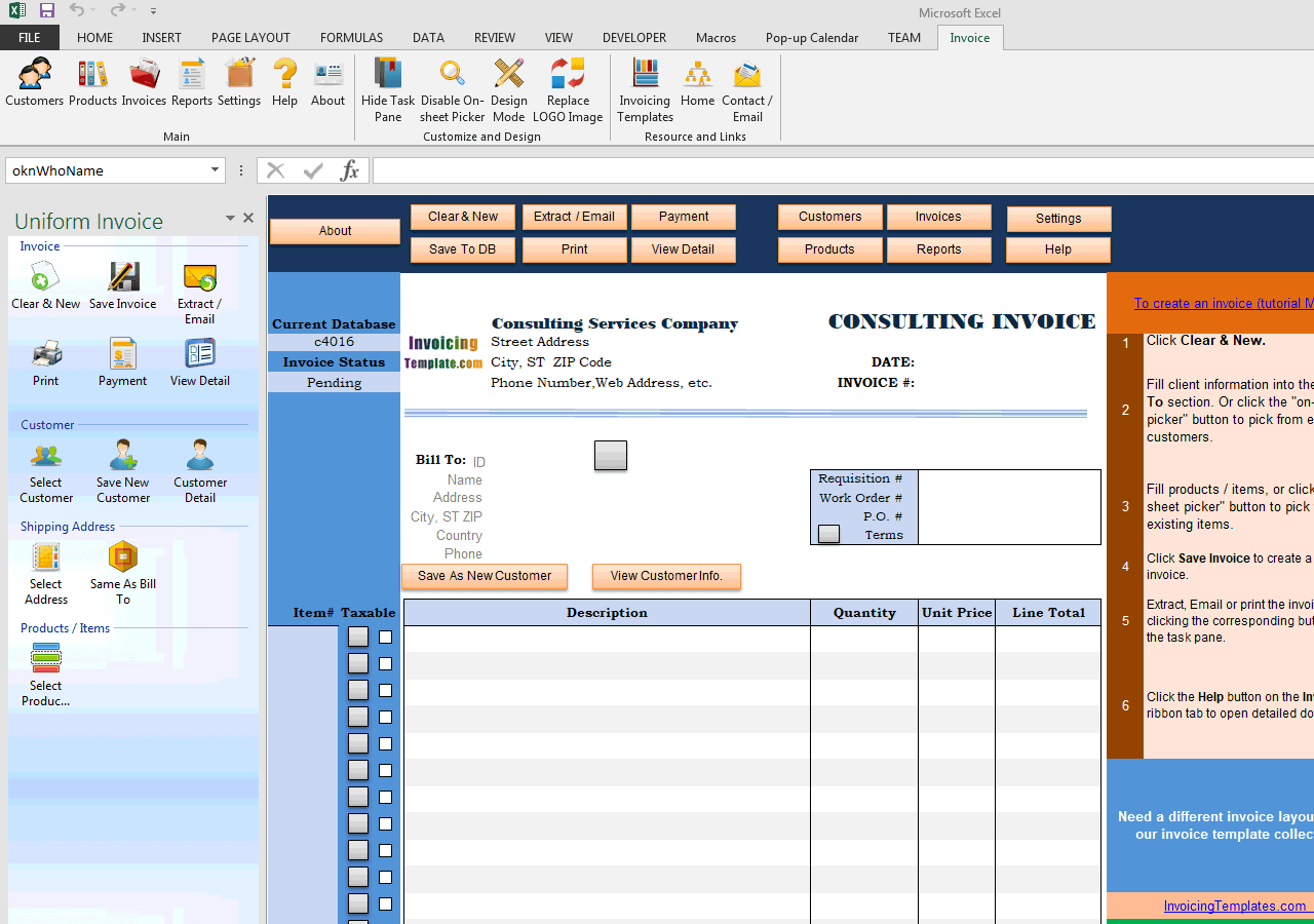 Consulting Invoice Template (1st Sample of Customization) (UIS Edition)