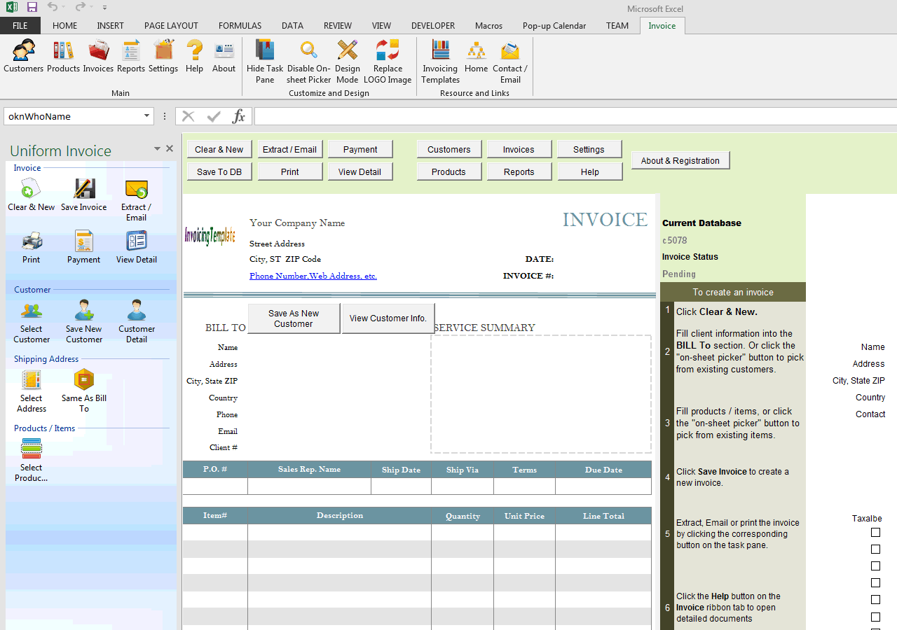 Basic Service Bill Sample With Deposit - Open invoice definition