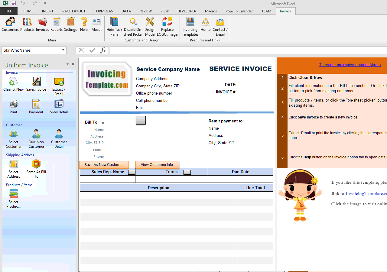 Service Invoice With Payment Advice (UIS Edition)  Payment Advice Template