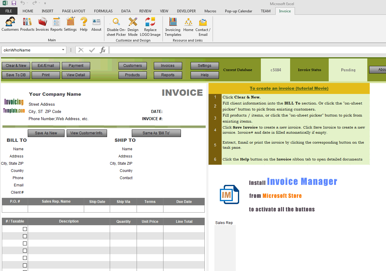 Simple Invoice Sample   Sales Rep Name On Product Report (UIS Edition)  Product Invoice